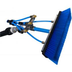 QLEEN Szczotka myjąca 40 cm z 5 dyszami i ruchomym uchwytem 90°