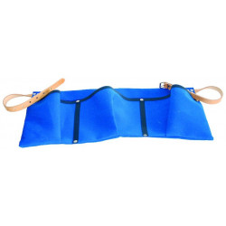 LEWI Apron made of canvas, blue.