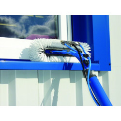 QLEEN Special brush bow for window sill and frame cleaning, 35 cm