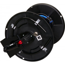 Hose reel - T26 (50 m) with connections and foldable handle