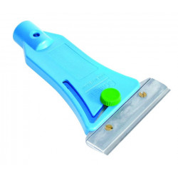 """Comet Green"" – Floor scraper with immersible ground blade, one side sharp, one side blunt"