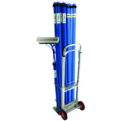 QLEEN Pole trolley for 12 poles (without poles)
