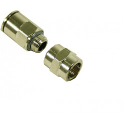 Simple bolted joint, hose - brush connector